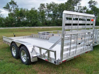 "Zimmerman Trailers Aluminum U8-83"" Wide Utility Trailer"