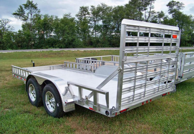 Zimmerman Trailers Aluminum U8-83″ Wide Utility Trailer